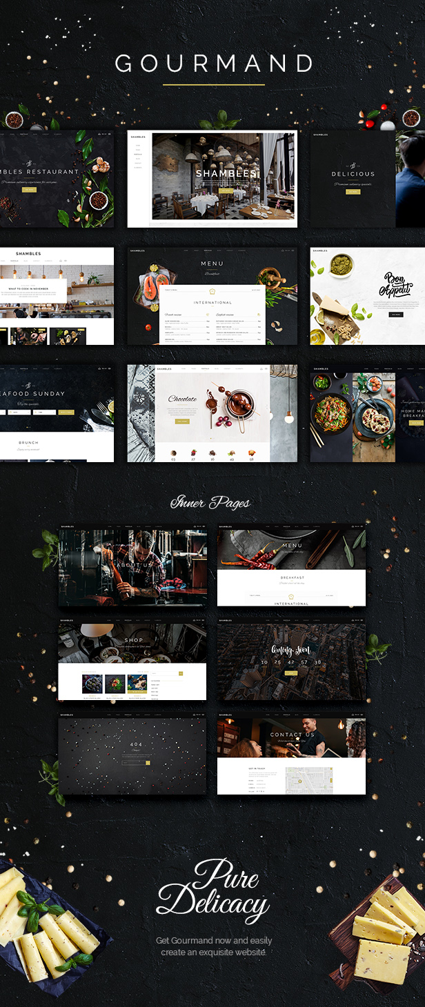 WordPress theme Gourmand - An Exquisite Restaurant and Bistro Theme (Restaurants & Cafes)