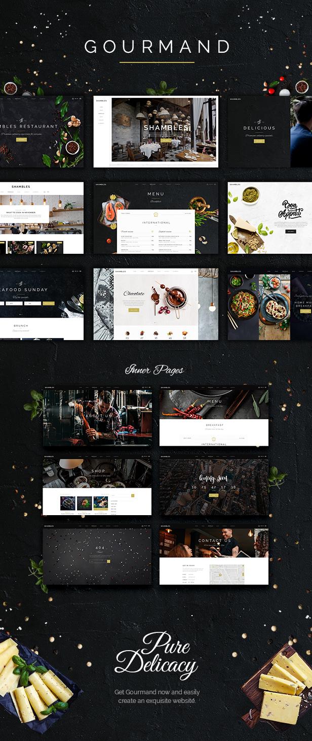 Gourmand - Restaurant, Bistro & Chef Theme - 1